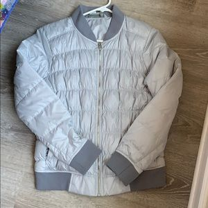 Athleta Puff Bomber style Jacket